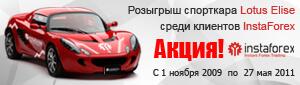 Розыгрыш спортивного автомобиля для трейдеров форекс