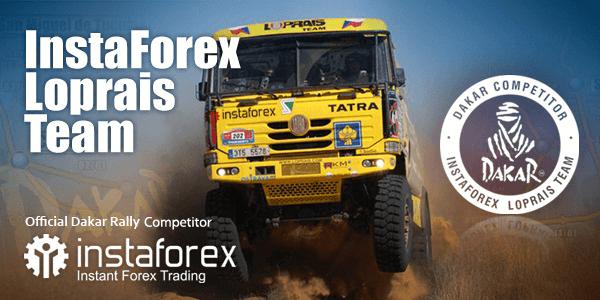 Participant of Dakar rally raid InstaForex Loprais Team